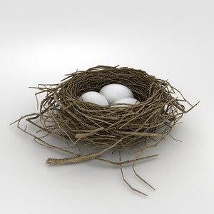 3D bird nest s model