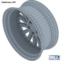 car rim wheel volume 3D model