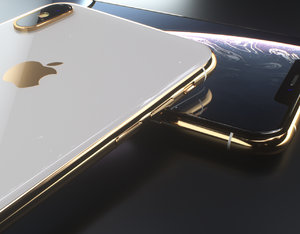 octane apple xs modeled 3D