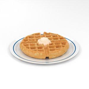 waffle food 3D model