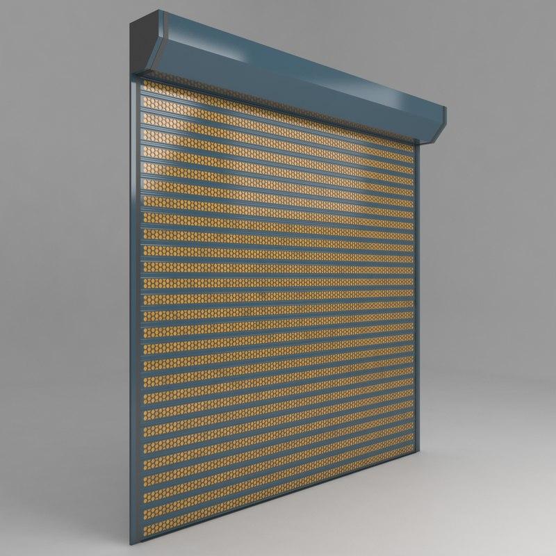 store garage door 3D