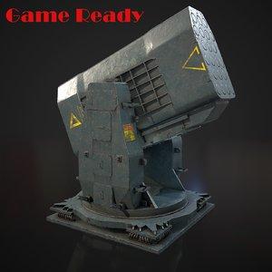 3D airframe missile model