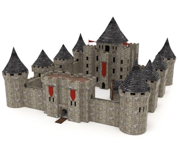 3D ready castle model