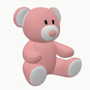 3D model bear teddy toy