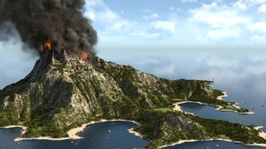 3D model island blender