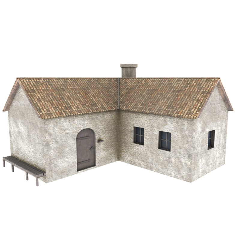 old stone house 3D
