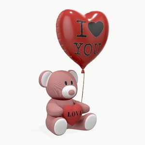 bear teddy toy 3D model