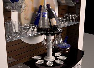 modern home bar 3D model