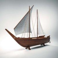 boat vessel ship 3D