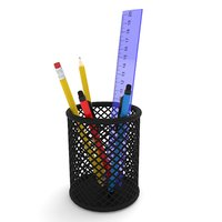 pencil pen holder 3D model