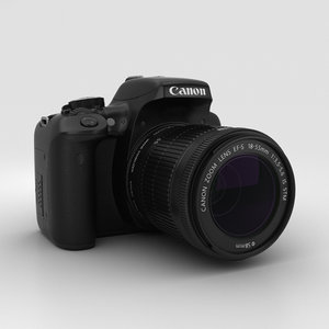 3D canon rebel eos model