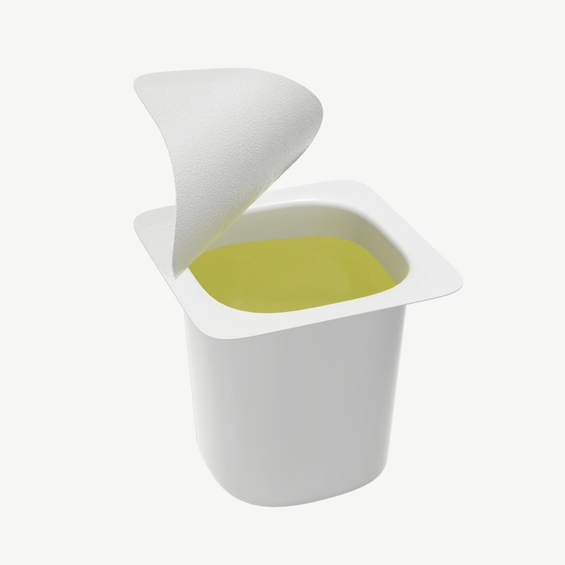 3D container drink model