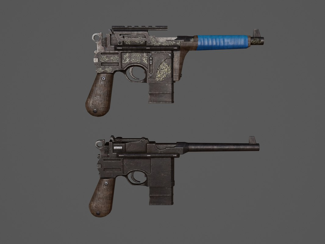 weapons gun pistol 3D model