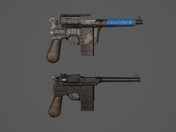 weapons gun pistol 3D model