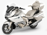 3D touring motorcycle model