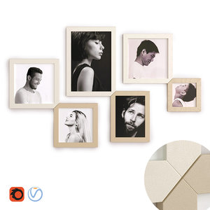 lago frameet picture frames 3D model