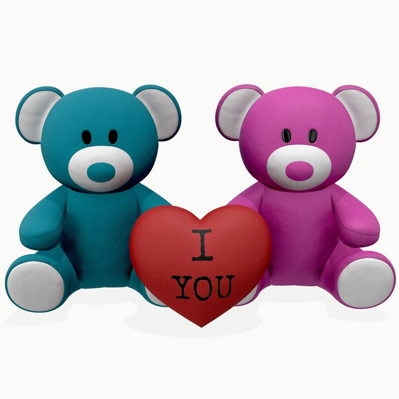 bear teddy toy 3D