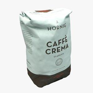 3D model coffee package