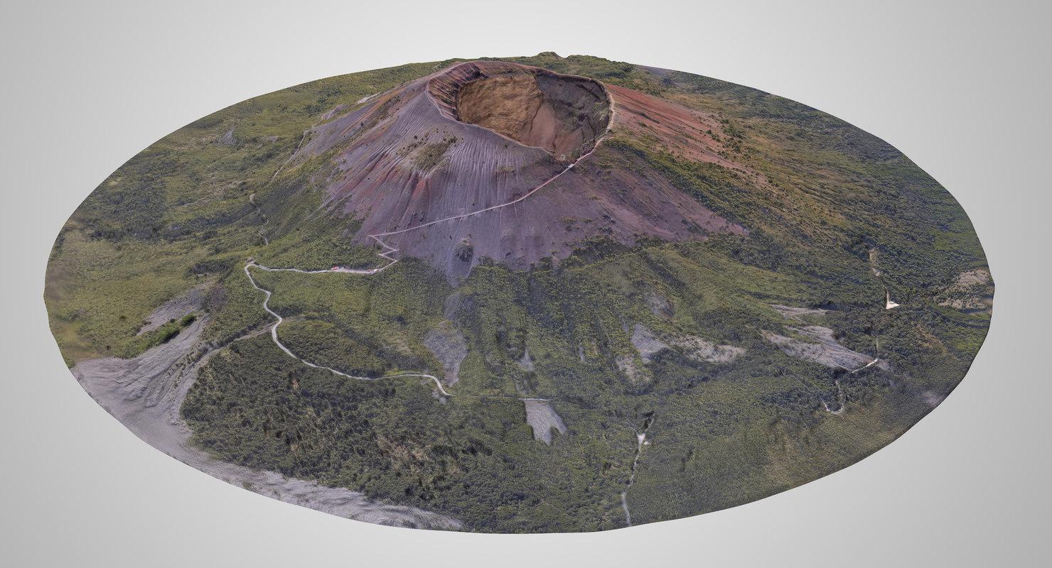 vesuvius volcano crater 3D model