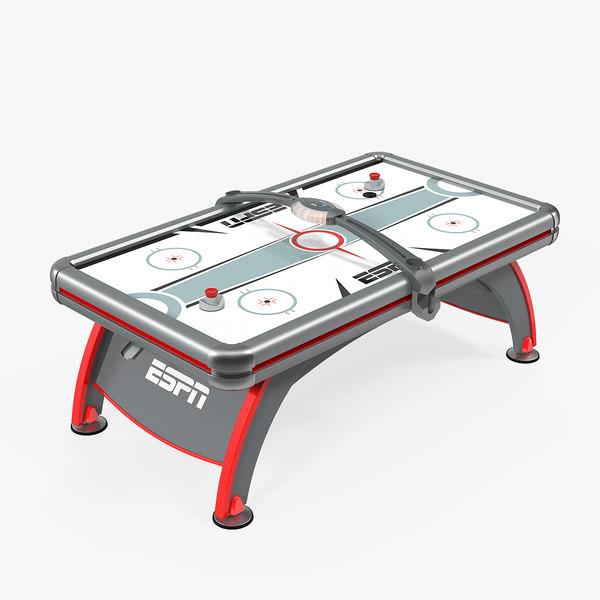 3D espn air hockey table model