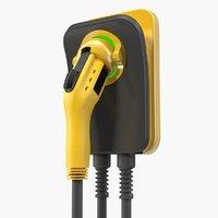 Electric Car Charging Plug Generic 3D Model