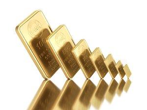 3D gold bar model