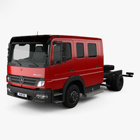 Mercedes-Benz Atego Crew Cab Chassis Truck 2004