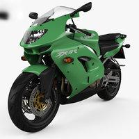 3D kawasaki ninja zx-9r model