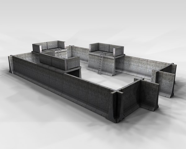 fortification military 3D model
