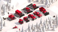 Cartoon Low Poly Winter Snow Vehicles Pack