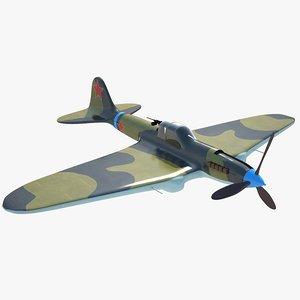 3D ilyushin il-2 aircraft soviet
