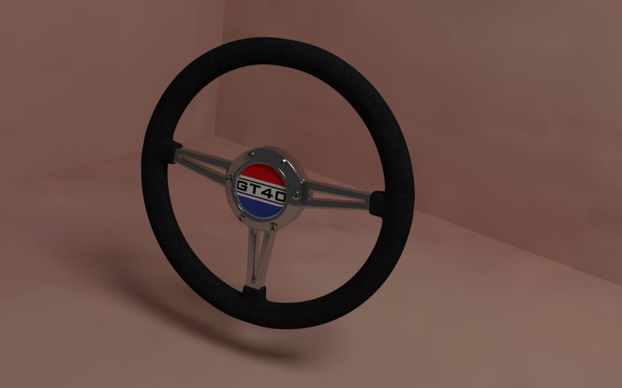 3D car steering wheel gt