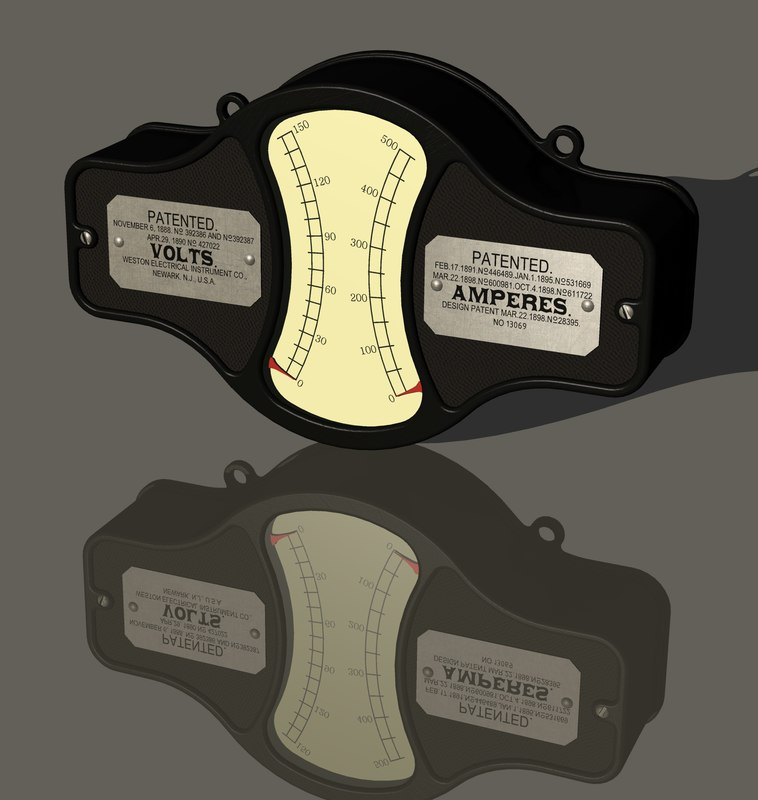 3D vintage weston electrical instrument model