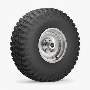 road wheel tire 6 3D