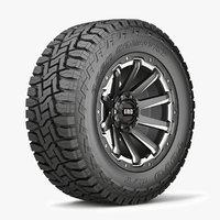 3D model road wheel tire 4