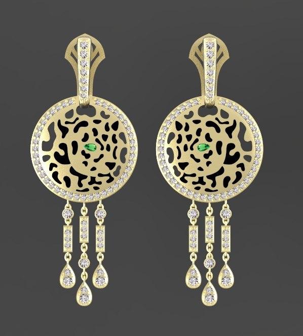earrings ring 3D model
