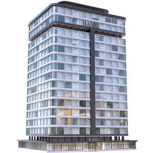 bank building atm 3D model