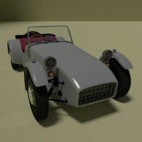 3D car retro model