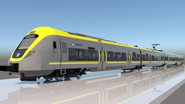 sprinter train 3D model