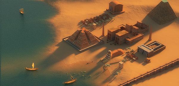 3D model egypt terrain scene