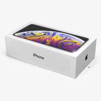 3D iphone xs box mobile phone model