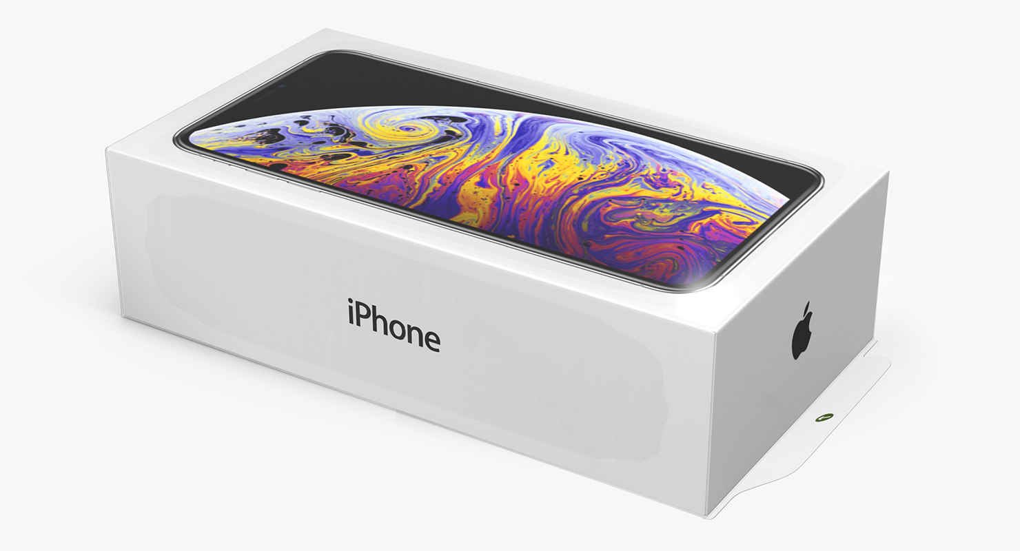 iPhone Xs Max Box 3D Model