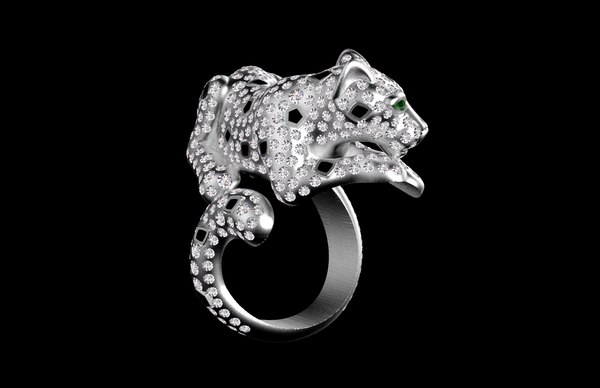 panther ring 3D