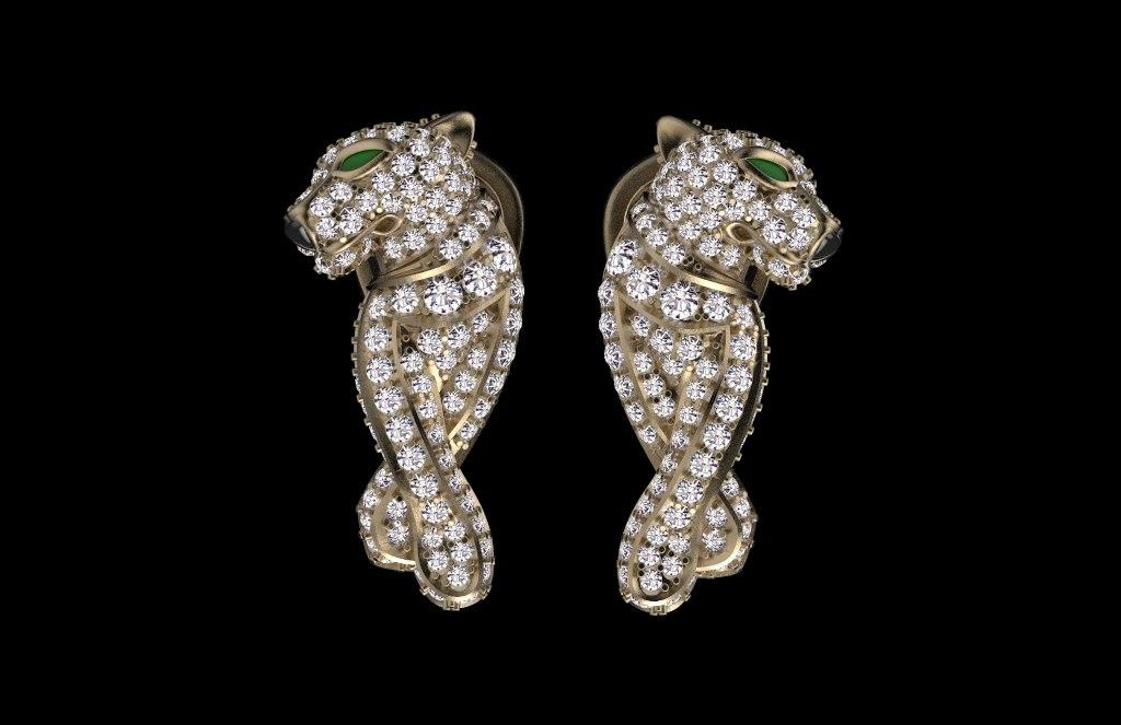 earrings ring 3D