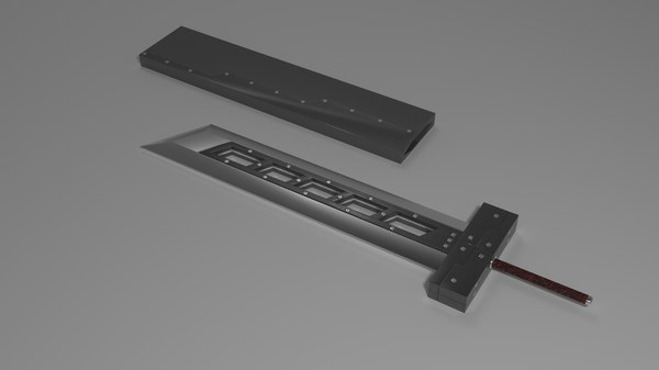 3D model final fantasy buster sword