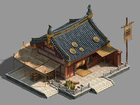 3D model peach blossom island -