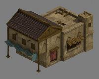 3D blacksmith shop - house model