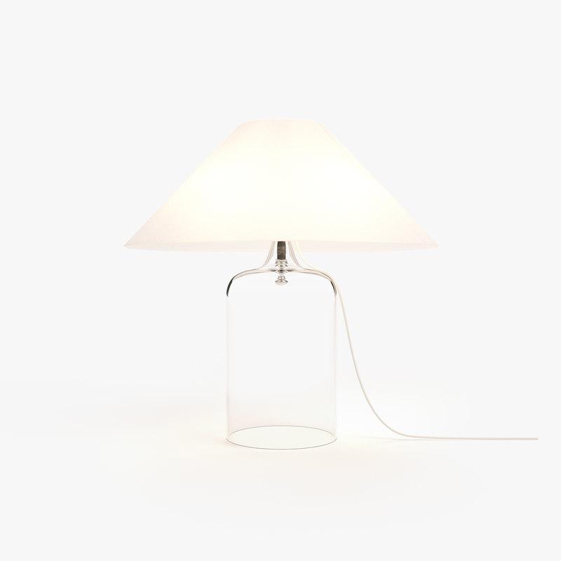 3D model table lamp vico magistretti