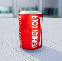 Cola Can Ready For Unreal Engine