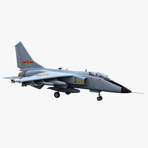 jh-7 bomber fighter 3D